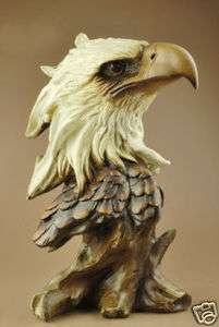 Large Resin Eagle/Hawk Head Bust Statue Figure 11High