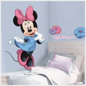 DISNEY MINNIE MOUSE Wall Mural Stickers RoOm Decor BiG