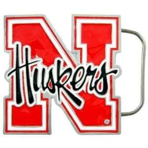 Nebraska Cornhuskers Pewter Team Logo Belt Buckle Sports