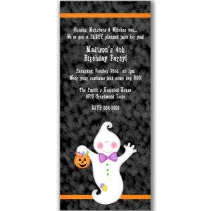 Little Ghost Invitations Party Halloween Kids Birthday
