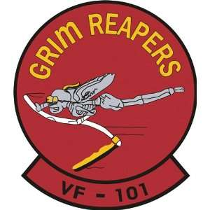 US Navy VF 101 Grim Reapers Squadron Decal Sticker 3.8