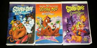SCOOBY DOO 3 VHS MOVIE SET Creepiest Capers, Goes Hollywood, & Boo