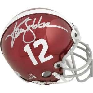 Ken Stabler Alabama Crimson Tide Autographed Riddell Chrome Mini