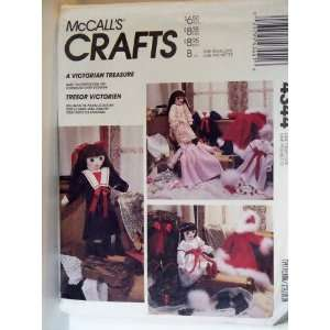 Pattern 4344. Victorian Rag Doll + 5 Outfits Arts, Crafts & Sewing