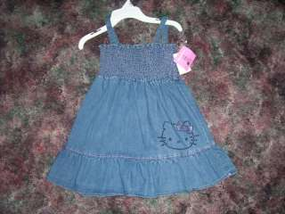 NWT Girls sz 5 Hello Kitty by Sanrio denim dress