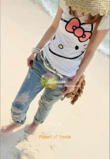 Cute Hello Kitty women girl top shirt Tee dress tank |