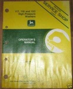 John Deere 117 High Pressure Washer Operators Manual