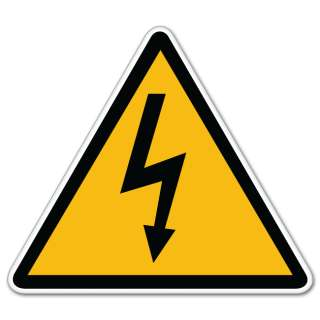 High Voltage Danger Warning sign sticker decal 5 x 5