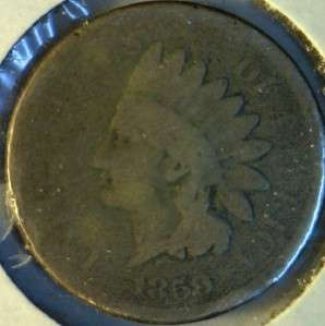 1859 Indian Head Cent   Penny Coin Copper Nickel Variety #1 Lot #2