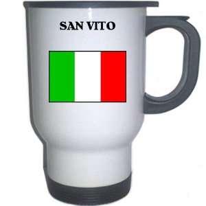 Italy (Italia)   SAN VITO White Stainless Steel Mug
