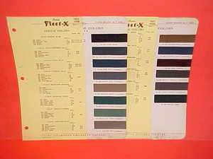 DODGE CAR SIX CONVERTIBLE COUPE SEDAN PAINT CHIPS COLOR CHART BROCHURE