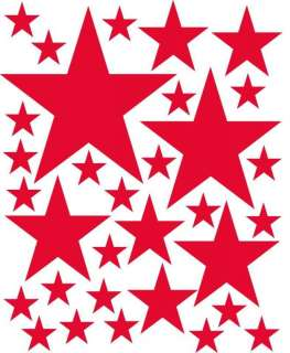 96 Red Stars Wall Decor Sticker Decal Graphic Art Vinyl