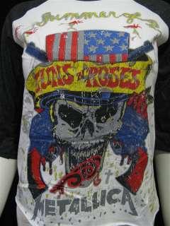 Guns N Roses Metallica Tour 92 Vintage Jersey T Shirt
