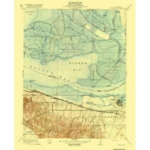 USGS TOPO MAP HONKER BAY QUAD CALIFORNIA (CA) 1918