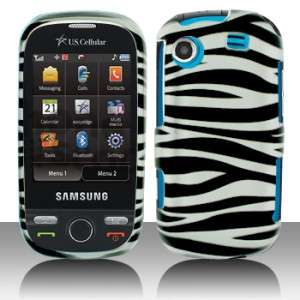 Silver Zebra Hard Case Cover for Samsung Messager Touch R630