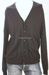 EXPRESS BLACK BUTTON FRONT L/S MERINO WOOL CARDIGAN SWEATER LARGE