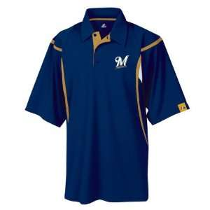 Milwaukee Brewers Zone Pinnacle Synthetic Polo Shirt