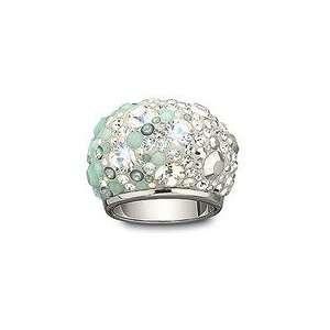 Swarovski Chic Crytal Blue White ice Ring XL