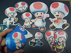 SUPER MARIO STICKER LOT BIG STICKERS ALL TOAD ONLY