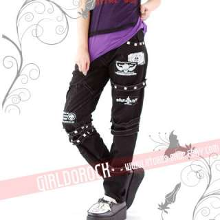 FreeShip X PUNK VISUAL KEI SLIM LOOK MUMMY 71137 PANTS size S XL