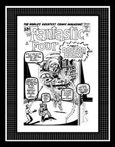 Jack Kirby Fantastic Four #5 Rare Production Art Cover