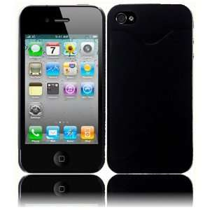 Apple Iphone 4GS 4G CDMA GSM Credit Card Hard Case   Black