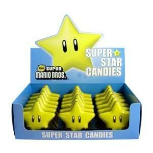 Mario Bros. Super Star Candies Display Box of 18 Tins Toys & Games