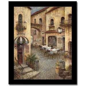 Bon Appetite Italian Villa Street Scene Framed Print