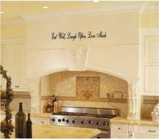 Eat Laugh Love Kitchen Vinyl Wall Art Words Art Decal