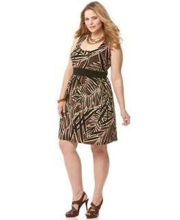 MICHAEL Kors NWT $99 Sleeveless Leaf Print Dress 2X 884485559716