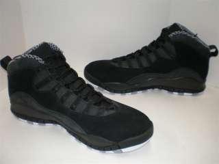 NIB Mens Nike Air Jordan Retro 10 Black White Stealth Size 7.5 12