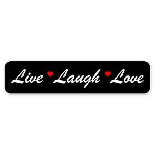 Live Laugh Love car bumper sticker 7 x 2 Automotive