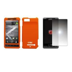 EMPIRE Orange Rubberized Hard Case Cover + Mirror Screen