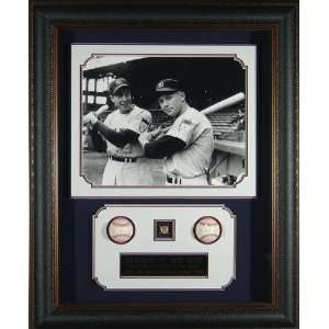 Joe DiMaggio and Mickey Mantle signed & framed.