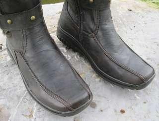 Suede & Faux Wool & Fur Polar Boots APRES LAMO Sizes 6   10 Dark Brown