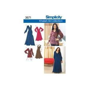 SIMPLICITY PATTERN 3671 WOMENS PETITE DRESS IN TWO