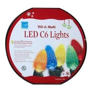 150ct LED C6 Indoor and Outdoor Lights   Multi Color