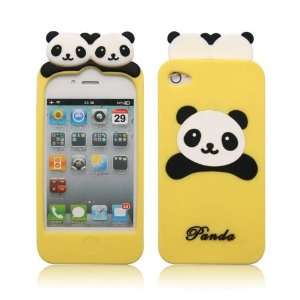 LCE Cute PANDA Soft Silicon Back Case Cover skin for iPhone 4 4G