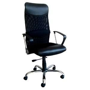 Acme 09747 Lawndale Pneumatic Lift Office Chair, Black Polyurethane