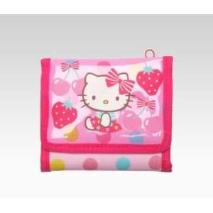 Hello Kitty Sports Wallet Pink Fruits