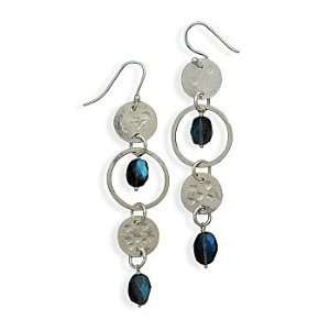 Sterling Silver Labradorite Drop Earrings West Coast Jewelry Jewelry
