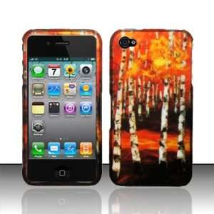 Apple Iphone 4, 4s Phone Protector Hard Cover Forest