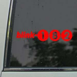 Blink 182 Red Decal Punk Rock Band ruck Window Red