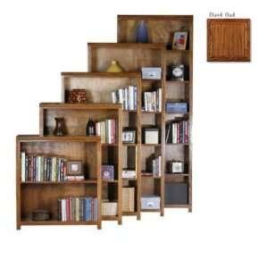 Coastal 23348NGDK 48 in. Open Bookcase   Dark Oak