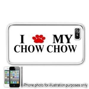 Chow Chow Paw Love Dog Apple iPhone 4 4S Case Cover White