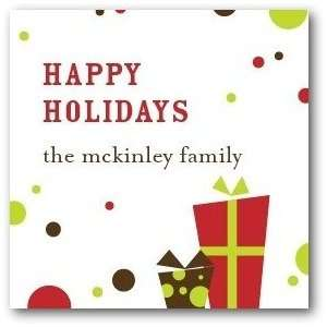 Personalized Holiday Gift Tag Stickers   Bubbly Gifts By