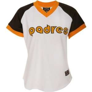 San Diego Padres Womens Cooperstown Throwback Replica Jersey