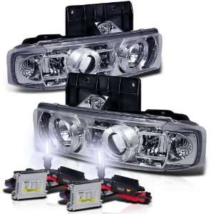 Xenon HID Kit+95 05 Chevy Astro Van/Safari Halo Projector Head Lights