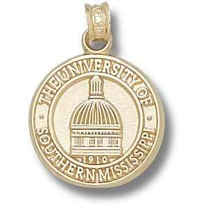 Southern Miss Golden Eagles 14K Gold Dome Seal Pendant