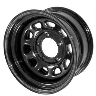 Wheel D Hole DOT Black Powder Coat   15 x 8 Inch Wheel Automotive